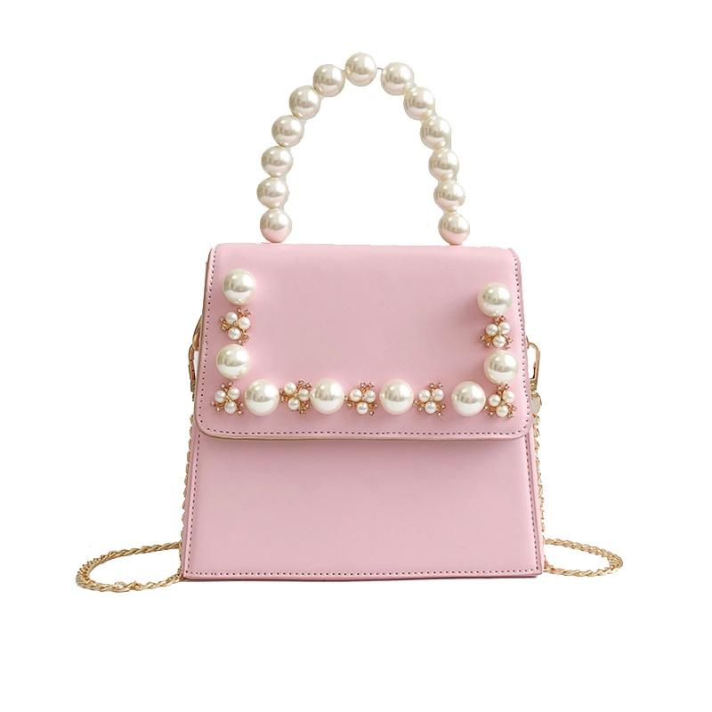 2018 Cute Tote Women Bag High Quality PU Leather Women's Designer Handbag Sweet Lady Chain Portable Shoulder Bag Crossbody Bags