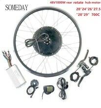 EINES TAGES 48V1000W BLDC Elektrische Fahrrad conversion kit mit LCD5 display EBIKE Hinten drehen rad hub Motor