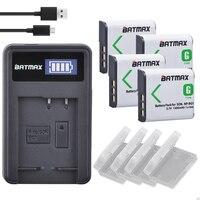 4Pcs NP BG1 NP BG1 NPBG1Battery + LCD USB Charger for SONY DSC W130 W210 W220 W300 H10 H50 H70 W290 HX7 HX10 HX30 WX10 H55 HX9