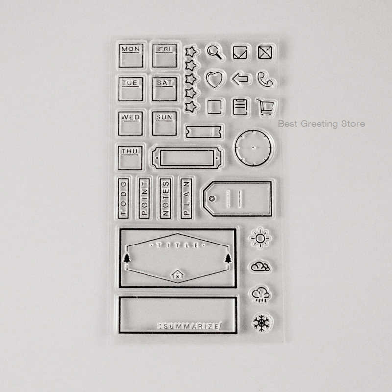 Clear weekday stamps bullet 저널 스탬프 office planner to do stamps 여행자 노트 액세서리