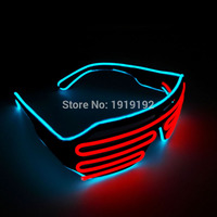EL Wire Flashing Shutter Shade Lighting El Led Plastic Party Rave Glasses For Event And Party