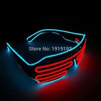 EL intermitente alambre del obturador sombra de iluminación el led de plástico fiesta rave gafas para el Evento y Fuentes Del Partido de la Navidad y Halloween