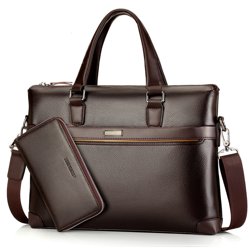 Men's Leather Briefcase Bag High Quality Crossbody Bags For Male Business Shoulder Bag With Money Bag Men Messenger Bags LSH394