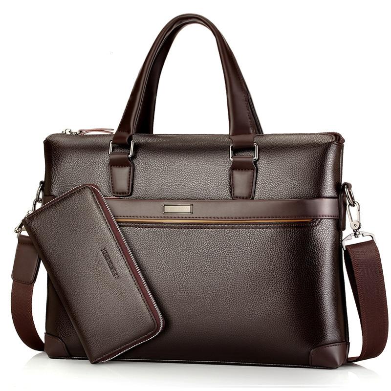 Men's Leather Briefcase Bag High Quality Crossbody Bags For Male Business Shoulder Bag With Money Bag Men Messenger Bags LSH394