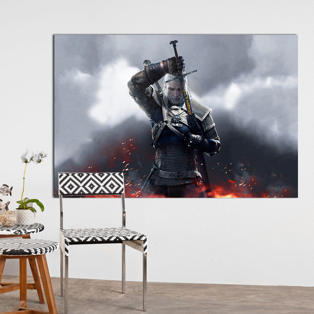 WANGART the Witcher 3 Canvas Art Print Poster Painting Hunting Wild Game Cirilla Geralt large Wall Picture for Living Room jy681 3