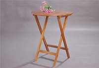 Wooden Folding Side Table Round 80cm 3 Color White Natural Coffee Living Room Furniture Wood Foldable