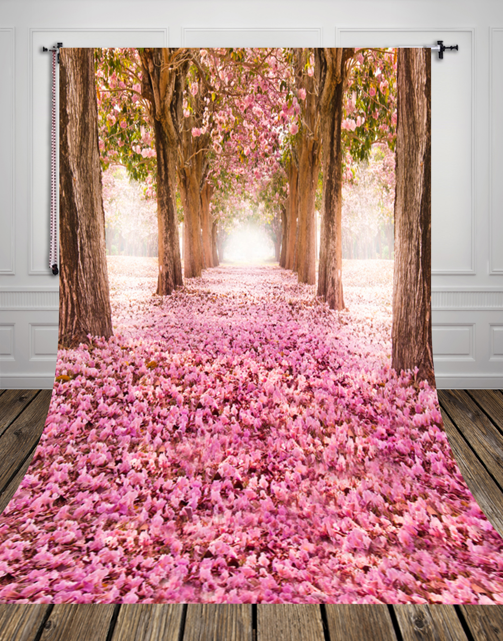Pink Boulevard printed newborn birthday photo backdrops Art fabric backdrop for studio children photography backgrounds D 9779 in Background from Consumer Electronics