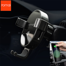 Original Xiaomi 70mai Qi Wireless Charger Car Phone Holder For iPhone X XR Samsung S10 Intelligent Sensor Mobile Stand