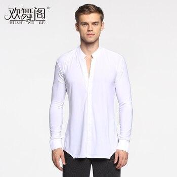 men's modern dance Latin long sleeve shirt