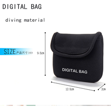 Digital Bag Mini Hard Earphone Headphone Case Diving Material Leather Protective Usb Cable Organizer Portable Earbuds