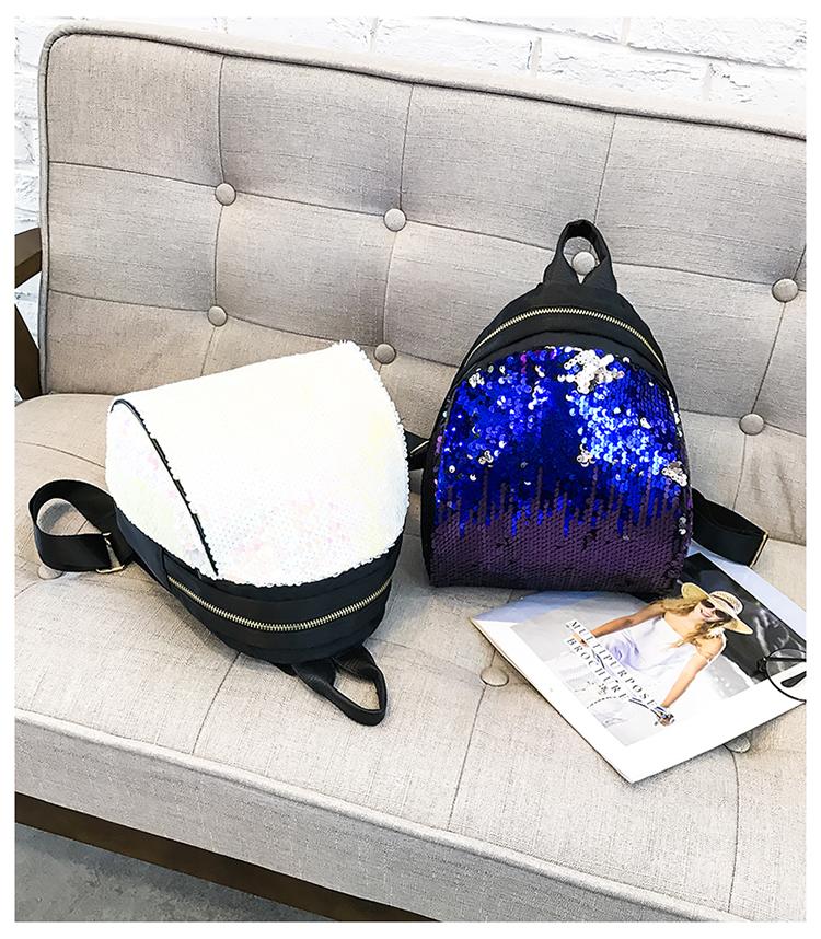 Backpacks women Korean mini 2018 new sequined shell fashion trend women go with small backpacks travel backpack 103