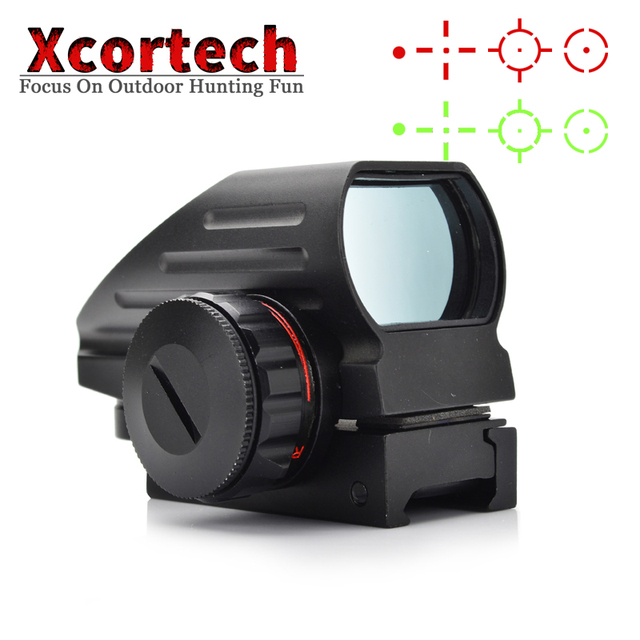 Tactical Reflex Red/Green Dot Rifescope Reticle Holographic Dot Sight Scope Airgun Rifle Scope Sight For Hunting