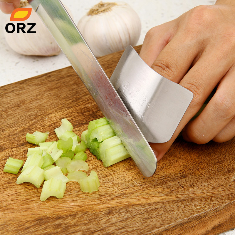 ORZ High Quality Stainless Steel Finger Hand Protector Kitchen Cooking Tools Guard Knife Cutting Finger Protection Tools
