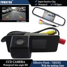 FUWAYDA CCD Chip Car RearView Camera for Chevrolet Aveo Trailblazer Opel Mokka Cadillas SRX CTS+4.3 Inch rearview Mirror Monitor