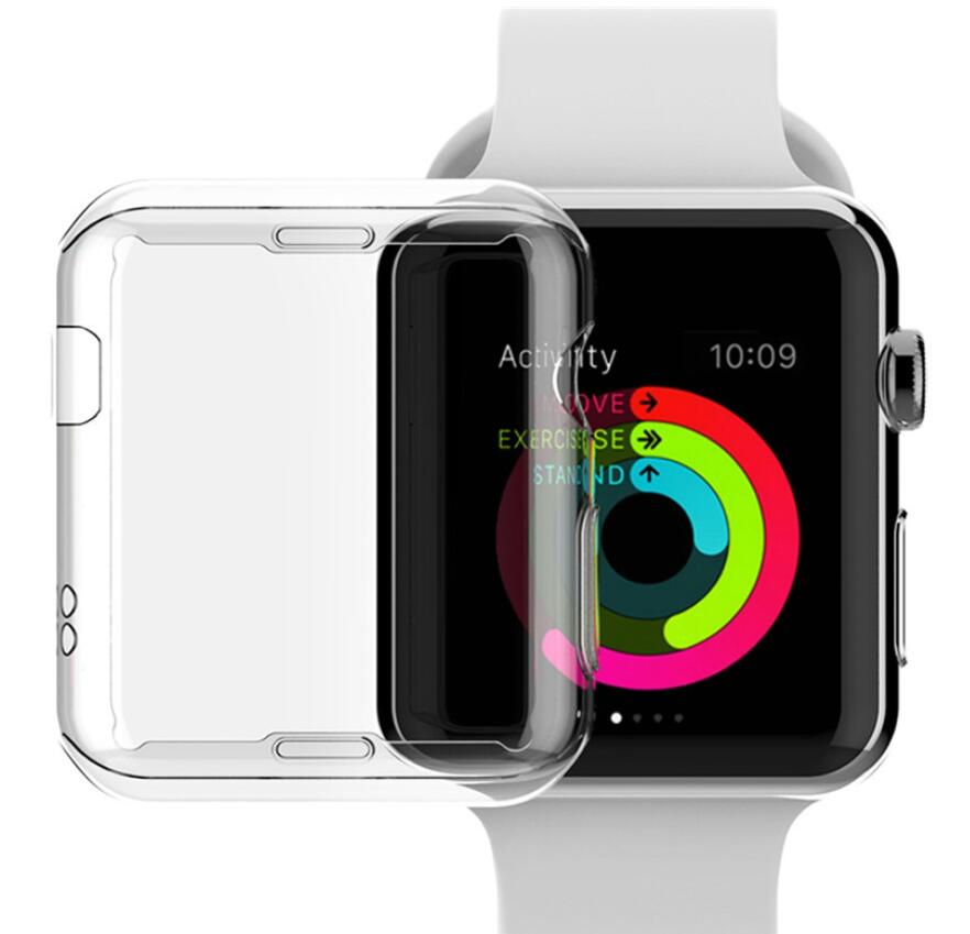 100pcs Watch accessories for Apple Watch Screen Protector TPU Case All around Protective 0.3mm