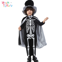 Halloween cosplay child skull skeleton pork ribs masquerade costume clothes