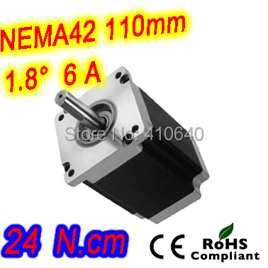 Free Shipping! Nema 42 Stepper motor 42HS65-6004S L165 mm  with 1.8 deg stepper angle current 6 A  torque 24 N.cm and 4 wires free shipping stepper motor 17hs13 0404s l 33 mm nema17 with 1 8 deg 0 4 a 26 n cm and bipolar 4 wire