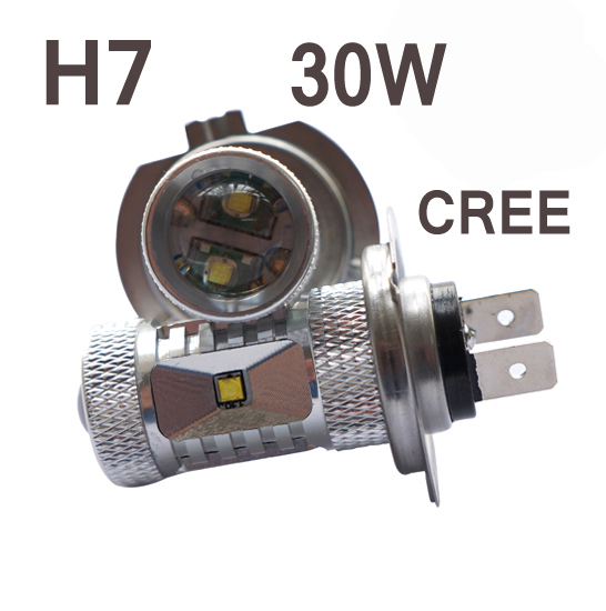 2pcs H7 White P13W High Power Fog Light Driving light DRL Replace Xenon Halogen Lamps DC8-30v