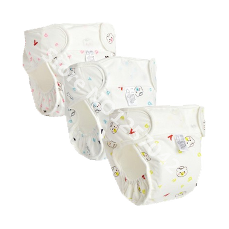 3Pcs Washable Cloth Nappy Baby Diaper Reusable Cotton Baby Nappy Pocket Cloth Diapers Cover Waterproof Nappy Changing