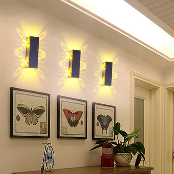 2W 6W Led Wall Lamp Sconce lights Double  1