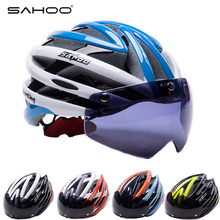 SAHOO Cycling Helmet Men&Women Mtb Helmet Magnets Goggles Design Mountain Road Bike Bicycle Helmet With Glasses Ciclismo