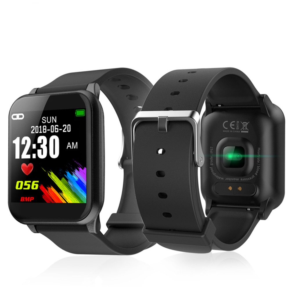 Good Wristband Colour Display Health Tracker Pedometer Bracelet Push Message Coronary heart Charge Monitor Sport Good Watch Males