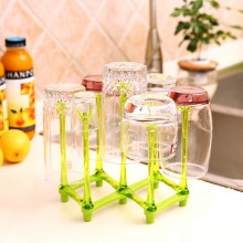 Color glass bottle rack household portable storage cup water 22*22*32.2cm