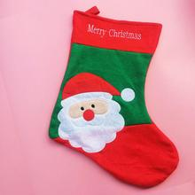 24pcs/lot Christmas Hanging Ornaments Santa Claus Design Candy Gift Socks Bags Shop Showcase Windows Decorations HX502