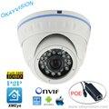 Visão Nocturna do IR H.264 ONVIF 2MP Full HD 1080 P câmeras dome P2P POE DC48V HD-IP XMEye APP para um Crescimento Inteligente telefone