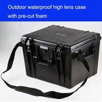 Alet çantası araç kutusu kamera çantası Darbeye dayanıklı mühürlü su geçirmez koruyucu ABS kılıf güvenlik aracı ekipmanları önceden kesilmiş köpük ile