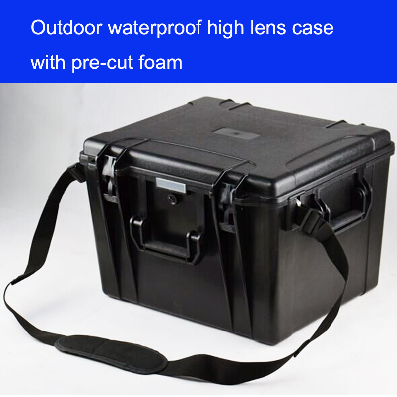 Tool Case Toolbox Camera Case Impact Resistant Sealed Waterproof Protective ABS Case Security Tool Equipment  With Pre-cut Foam