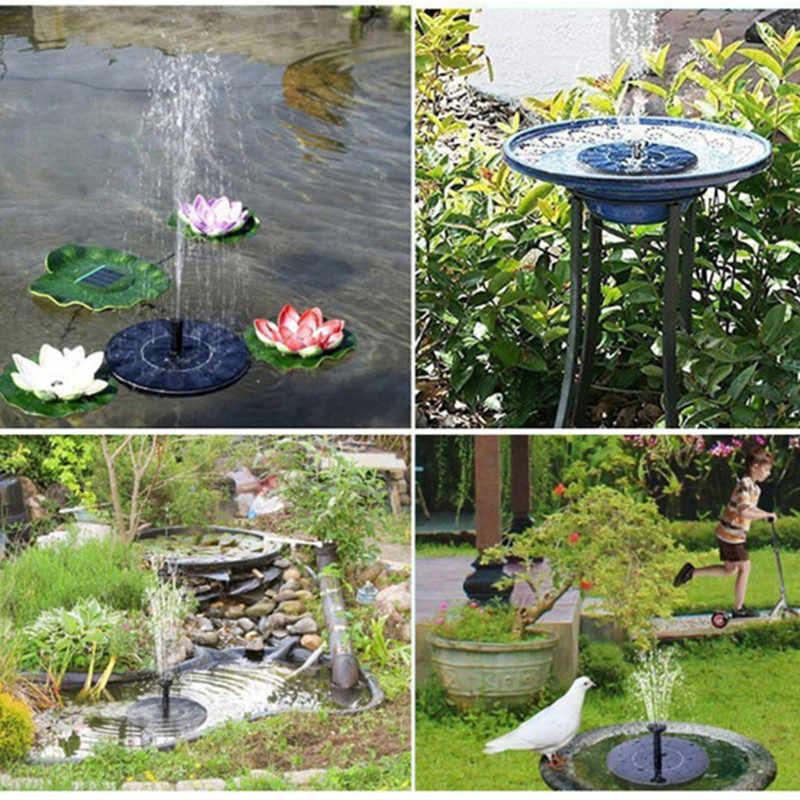 Rcool 17*17cm estanque decoraci/ón pl/ástico patio negro acuario jard/ín Fuente de agua solar para piscina