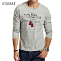 E-BAIHI Marca de verano para hombre camiseta de algodón de Manga Larga Camiseta Delgada hombres ocasionales remata camisetas swag Camisetas camisas Masculinas CT008
