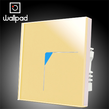 Free Shipping, Wallpad Luxury Gold Crystal Glass 1 Gang 2 Way Wall Light Switch Panel,110~250V 220V Touch Switches,Backlight LED 3 gang 1 way 118 72mm wallpad white glass touch wall switch panel led 110v 250v au us switching power supply free shipping