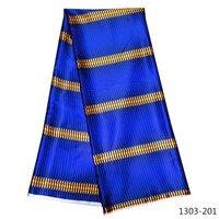 100% Cotton Silk Prints Fabric 2019 Ankara Satin Wax High Quality 5 yards African Fabric for Party Dress 1307