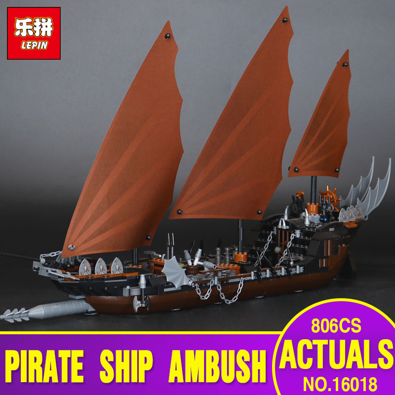 Lepin 16018 756pcs Genuine New The lord of rings Series The Ghost Pirate Ship Set Educational Building Block Brick Toys 79008 lepin movie series ghost pirate ship 16018 756pcs building block for children toys 79008 compatible legoe pirate ship
