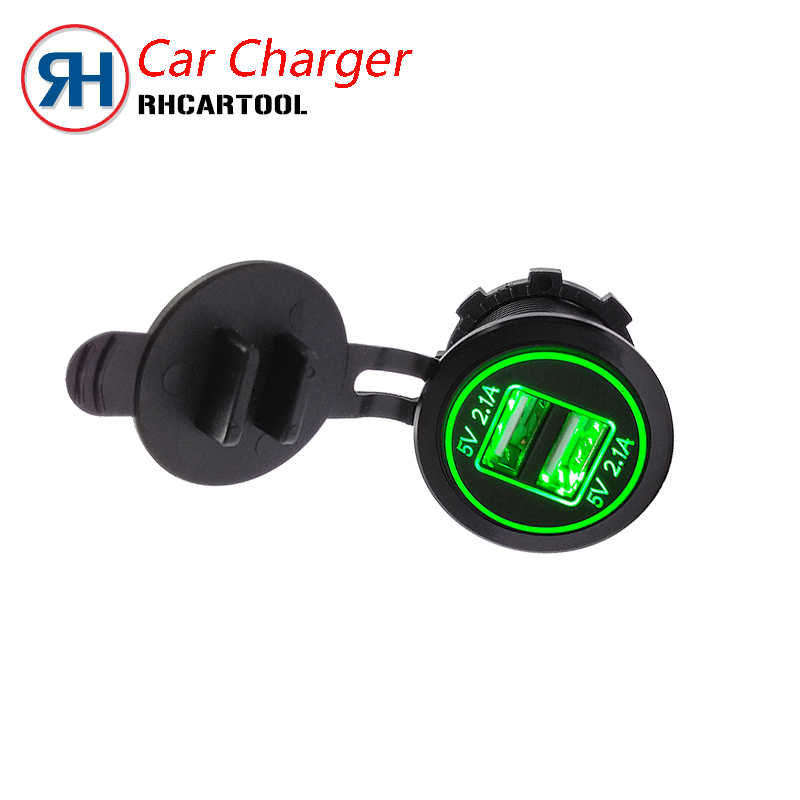 OBD2 A++++ Quality Car Moto Charger USB 12/24V Black Waterproof Auto Car Cigarette Lighter Socket For Mobile Motorcycle