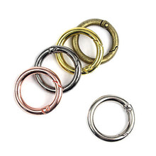 28MM Alloy Open Ring Spring Buckle Bag Hanging Key Chain Ring Holder for Luggage Key Jewelry J072-1(China)