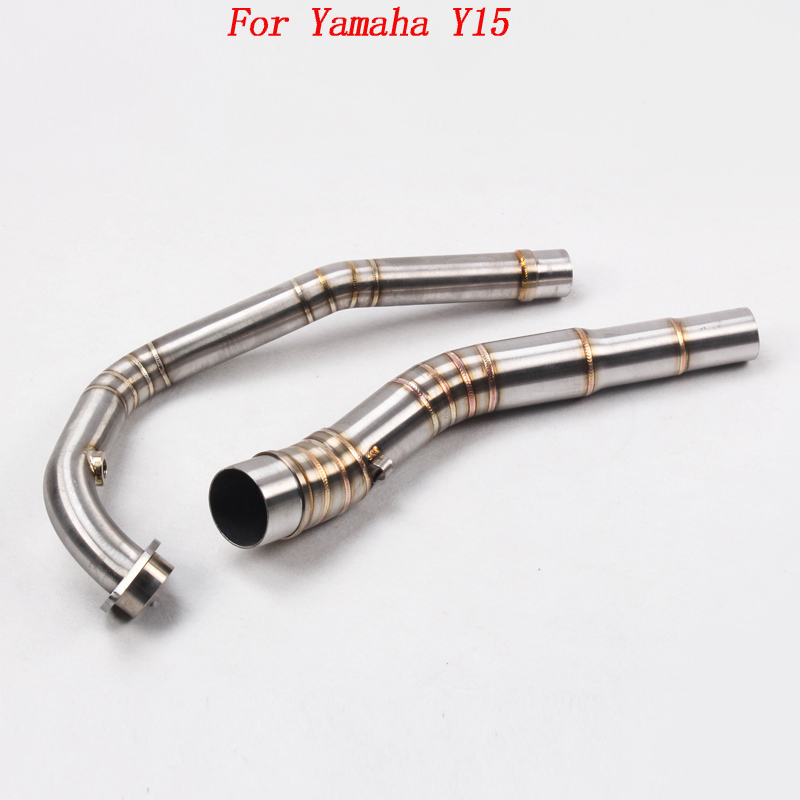 For Yamaha Y15 Motorcycle Exhaust Muffler Pipe Escape Motorbike Y15ZR Exhaust Mid Link Pipe and End Pipe For Yamaha Y15ZR цена