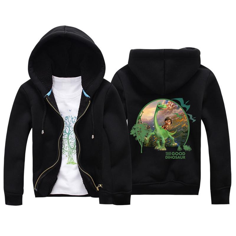 Jiuhehall 3-7 yrs Children Jackets 2016 New Winter Dinosaur Berber Fleece Coats Kids Thicken Warm Hooded Zipper Outwear JCM017 (2)