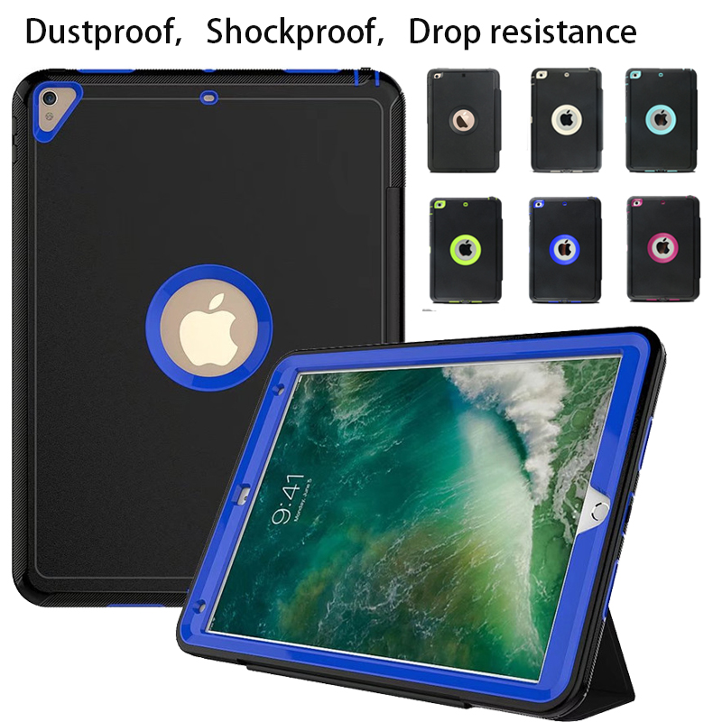 For Apple iPad Pro 10.5 Retina Kids Safe Armor Shockproof Heavy Duty Silicone Hard Case Cover For iPad Pro 10.5 2017 Case
