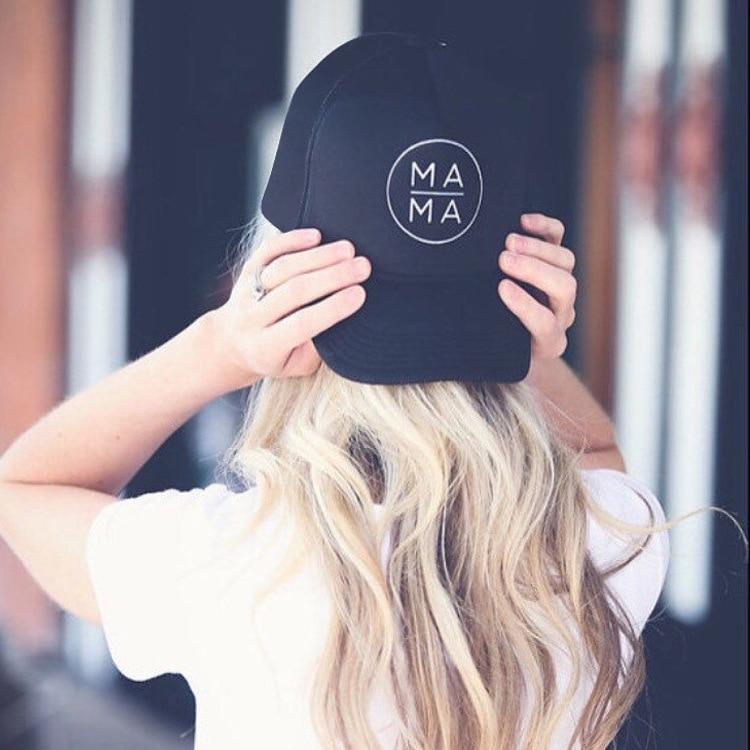 on sale 1pcs 2018 American MAMA creative baseball cap Mama Trucker Hat Black snapback gorras bone Mother Mama Mom Life Hat