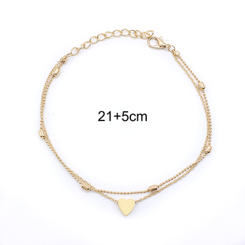 Heart Female Anklets Barefoot Crochet Sandals Foot Jewelry Leg New Anklets On Foot Ankle Bracelets For Women Leg Chain vintage 2
