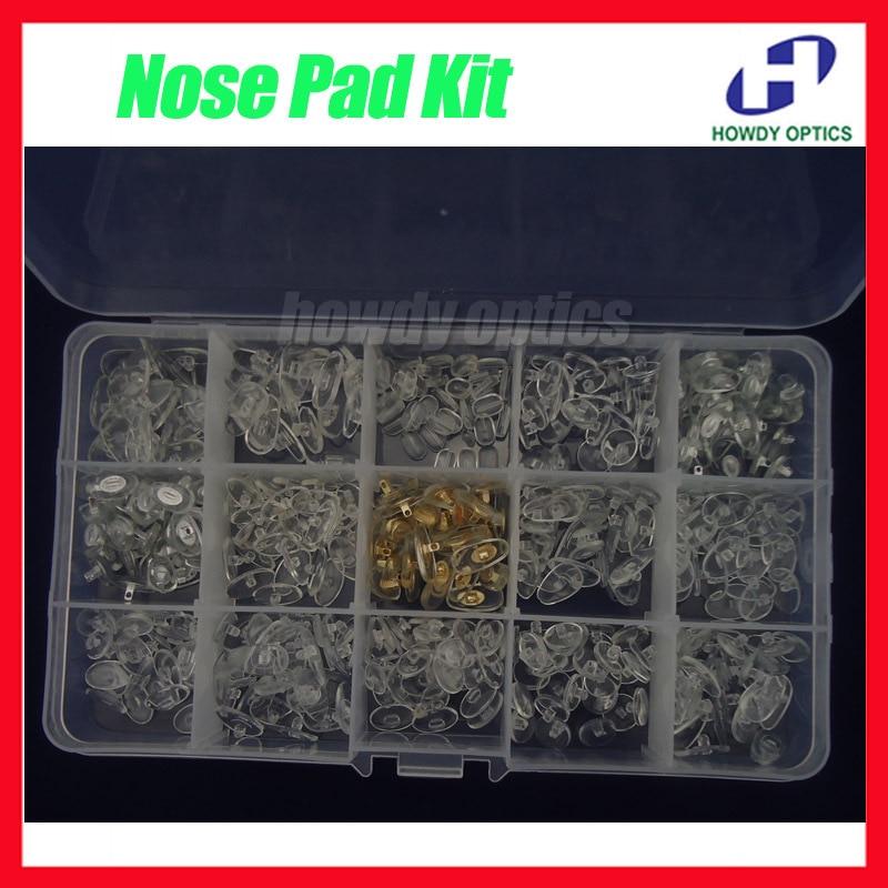 ed3e20a937 Envío libre Gafas nariz caso anteojos nariz almohadillas kit incluyendo  tipos de almohadillas de nariz del PVC