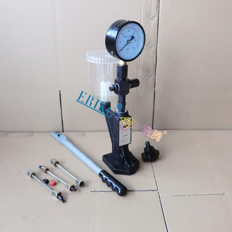 ERIKC haute précision noir injecteur buse testeur validateur SH60 avec 0-400 BAR/0-6000 P