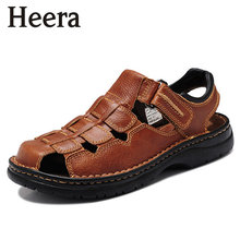 2016 Italian Style Men Sandals Slippers Genuine Leather Outdoor Casual Men'S Summer Shoes Gladiator Sandals For Man