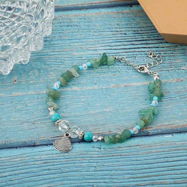 Bracelet Amazonite Et Cristal De Roche