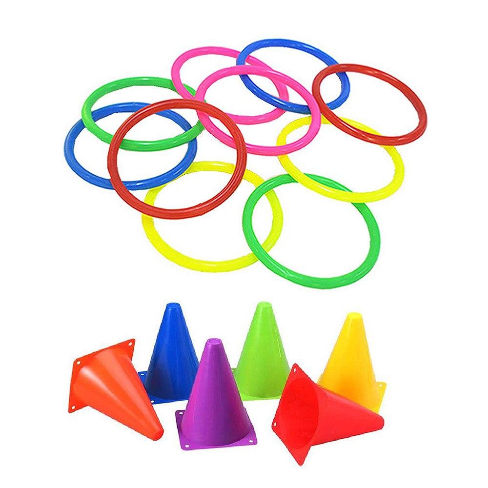 חיצוני סט של מעגלי צעצועי ההורה ילד משחק ירי חישוק קשת מוסיקה כוס מגדל פאזל צעצוע פלסטיק טבעת