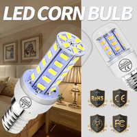 E27 lámpara LED Bombilla de maíz E14 Lampara Led 3 W 220 V 24 36 48 56 69 72 LED de energía iluminación para el hogar bombillas Led GU10 interior