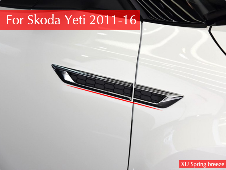 for Skoda Yeti 2011 2012 2013 2014 2015 2016 Side Wing Fender Emblem Badge Sticker Trim Original Car-styling недорго, оригинальная цена